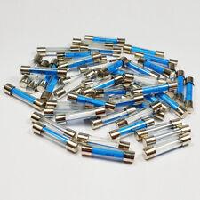 100 x 20 Amp 20 A amplificatori 6x30mm FUSIBILE Vetro Quick Blow FUSIBILI-a 6 x 30 mm