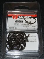 VMC 8382BN-10 Nemesis Saltwater Circle Hooks Size 1/0 Vanadium Steel Pack of 25