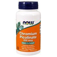 NOW Foods Chromium Picolinate, 200 mcg, 100 Veg Capsules