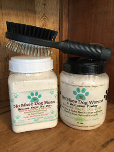 Natural Flea and De-worming Treatment Dog Combo with Dog Brush New Puppy Pack