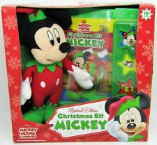 Mickey Mouse & Friends Christmas Elf Mickey Play-A-Sound Book & Plush Toy NEW