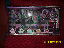 MONSTER HIGH DANCE CLASS SET 5 DOLLS GIL LAGOONA ROBECCA OPERETTA ONLY AT TARGET