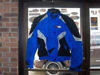Spidi Race H2OUT Waterproof Motorcycle Riding Jacket-Black/Blue 56 XXL-In Stk