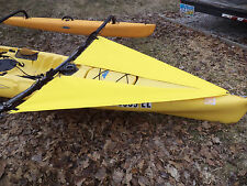 yellow  Spray Shield Set  for   TANDEM Hobie  Adventure  kayak - early model