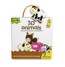 CHIMPANCE & Zee 3d Animales - INFANTIL PUZZLE - NUEVO