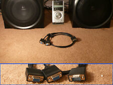 Logitech Z-5500 Z5500 Control Pod Y Splitter Cable for Dual Subwoofer System