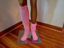 Slouch Knee Socks Pink for Hooters Uniform Cheerleaders Sports Soccer Softball
