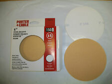 "5"" NO HOLE PSA Stick On Sanding Discs 15 pack 150 Grit PC"