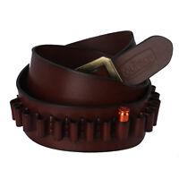 "Tourbon Leather Ammo Holder Sling 9mm/38spl Cartridges Belt Carrier 38-42"" Waist"