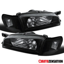 For 1995-2001 Subaru Impreza Black Headlight+Corner Turn Signal Lamps Pair