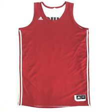 Adidas Mens Basketball Jersey Sz XLT Sleeveless Red White Reversible Signed #30