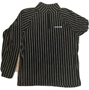 Burton DryRide Snowboard Long Sleeve Shirt - XL - Black Pinstripe- NWOT