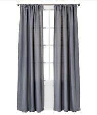 "Room Essentials Chesapeake One Window Curtain Panel Gray 63"""