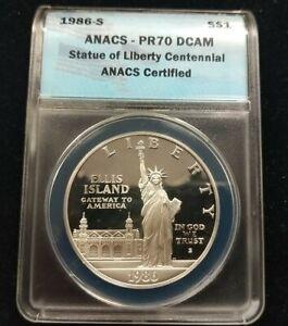 1986 S $1 ANACS -PR-70 DCAM Statue of Liberty Centennial