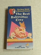 Richard Scarry The Best Babysitter Ever VHS Tape