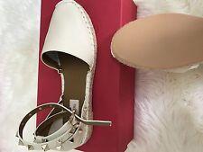 New sz 6/ 36 Valentino Black Suede Ankle Wrap Strap Low Heel Pump Shoes
