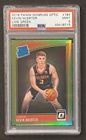2018-19 Donruss Optic Kevin Huerter Rated Rookies Lime Green Prizm /149 RC PSA 9