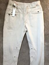 "DIESEL CREAM WHITE ""PADUMAP"" SWEATPANTS JOGGERS PANTS TROUSERS - L - NEW TAGS"