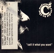 Credit To The Nation(CD Single)Call It What You Want-One Little Indian-