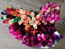 Long Roses Bouquet Wooden Flowers Wood Artificial Birthday Mothers Day