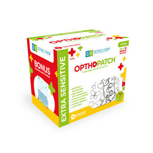 Opthopatch Color Your Own Adhesive Eye Patch for Kids 40 Pack + 1 Rewards Chart