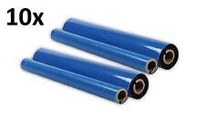 10 Faxrollen Kompatible für Brother Fax T102 / T104 / T106 T7+  PC-72RF PC-72 RF