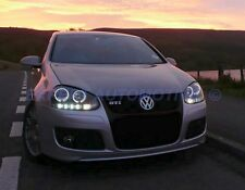 FARI DAYLINE NERI + ANGEL EYES A LED VOLKSWAGEN GOLF 5 DAL 2003 AL 2008