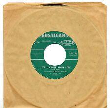 CANADA NM POP ROCK 1960s 45 RPM ROBERT MIVILLE & LES CLOVER BOYS : J'VA L'AVOIR