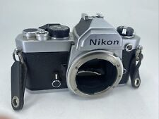 Nikon Fm Silver Body Only 35mm Slr Film Camera from Usa read