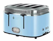 Russell Hobbs 21693 Retro 4 Slice Toaster 2400W Blue 3 Year Guarantee