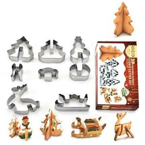 18PCS DIY-Gingerbread-House-Cookie-Cutter-Stainless-Steel-Christmas-Biscuit-Mold