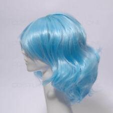 Perruques et toupets cheveux synthétiques bleu sans marque pour femme