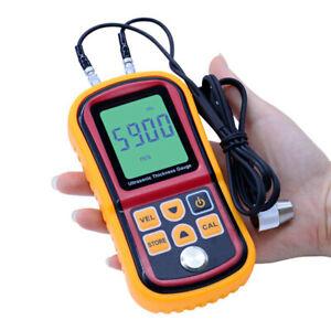 Digital LCD Ultrasonic Thickness Gauge Tester Depth Gauge Sound Velocity Meter