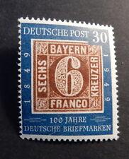 """Bund 115**  100 J. Briefmarken Plattenfehler """"VI"""" geprSchlegel"""