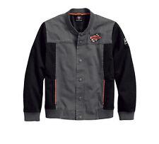 HARLEY-DAVIDSON® MEN'S SCREAMIN' EAGLE CASUAL JACKET BLACK & GREY 97465-18VM XL