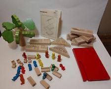 Vintage Lorenz Spiel Welt wooden toys Post Office Tree People West Germany