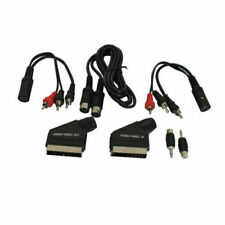7 Pieces Scart cable Kit Audio In Video Out 3X RCA Phono - 6 Pin Din -3.5MM 2M