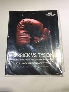 RARE BERBICK VS MIKE TYSON Boxing Championship Fight Program NOVEMBER 22, 1986
