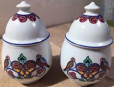 Byzantium Elizabeth Arden Porcelain Candle Holder Scented Ginger Jar Set Of Two