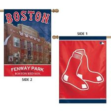 """BOSTON RED SOX FENWAY PARK 2 SIDED HOUSE FLAG 28""""X40"""" VERTICAL BANNER"""