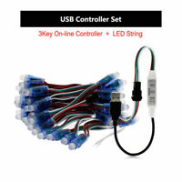 50pcs WS2811 12mm Diffused Digital RGB Full Color LED Pixel Module & controller