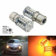 2x PY21W BAU15s 1156 40 SMD LED Indicator Signal Front Rear Light Bulb Amber 12V