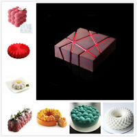 3D Silicone Molds Cake Pan Mold Baking Cupcake Mousse Decor Mould DIY Bakeware
