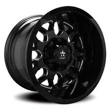 22x12 RBP 73R Atomic Gloss Black & Milled Wheels 8x6.5 (-44mm) Set of 4