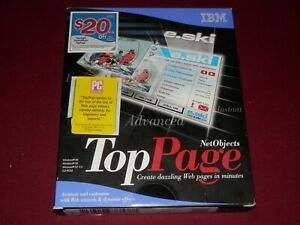 RARE:   IBM Net Objects Top Page web development software for Windows