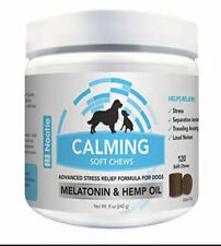 Nootie Calming Soft Chews for Dogs - Melatonin & Hemp Oil Stress Relief - 120ct