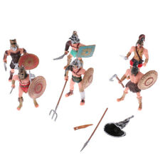 6pcs Plastic Roman Gladiator Warriors Medieval Soldier Action Figure Playset