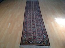 "Long TURKISH  HALL RUNNER CARPET RUG HAND MADE Traditional WOOL 10FT 9"" X 2FT 4"