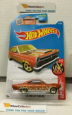'66 Ford 427 Fairlane #95 * Orange * Hot Wheels 2016 * B5