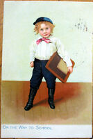 1907 Raphael Tuck Little Men & Women Postcard: On the Way to School